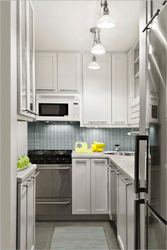 מטבח לבן ללא חלון