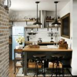 The interior of a small loft-style kitchen
