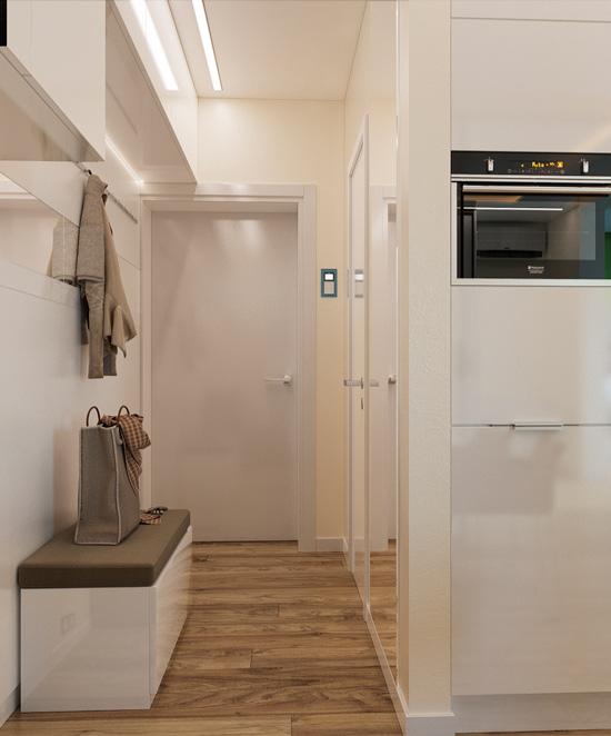 מטבח ללא חלונות עם דלתות שקוף
