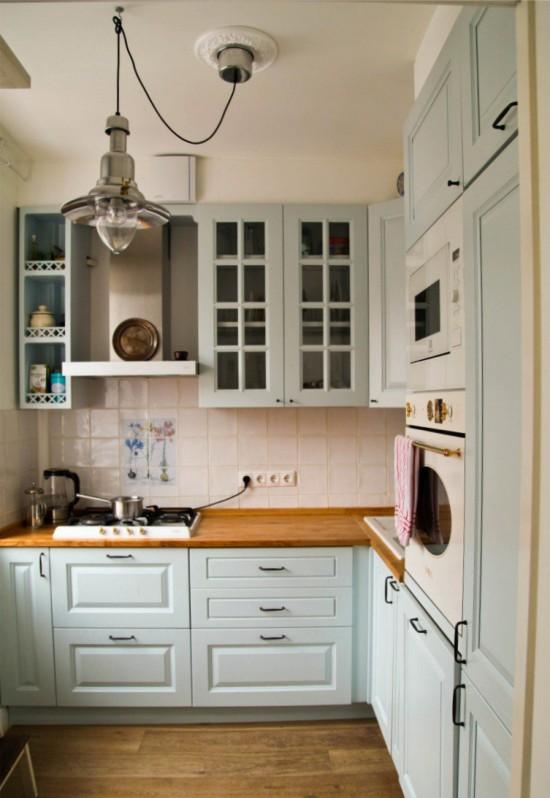Country Style Kitchen with Wooden Top