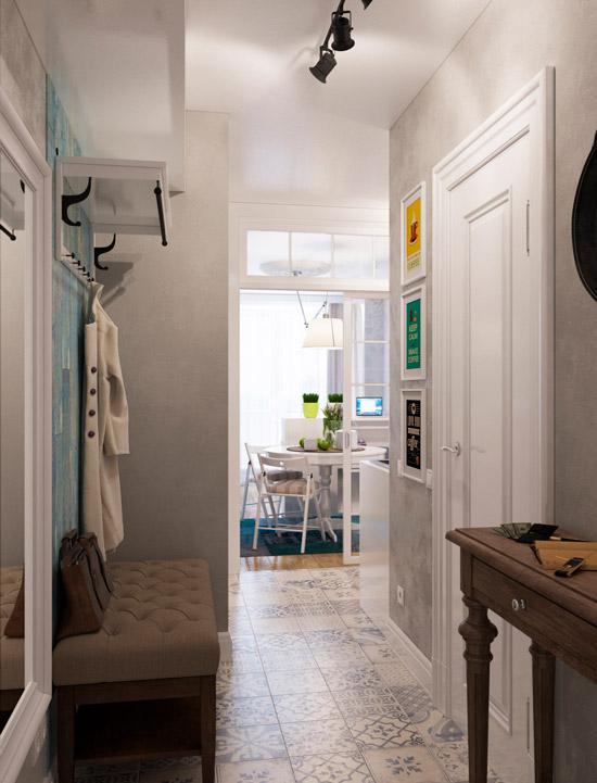 דירת סטודיו עם מטבח הליכה ללא חלון