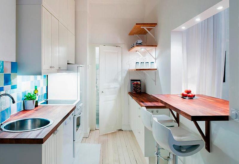 חלון הפצה בין מטבח לחדר