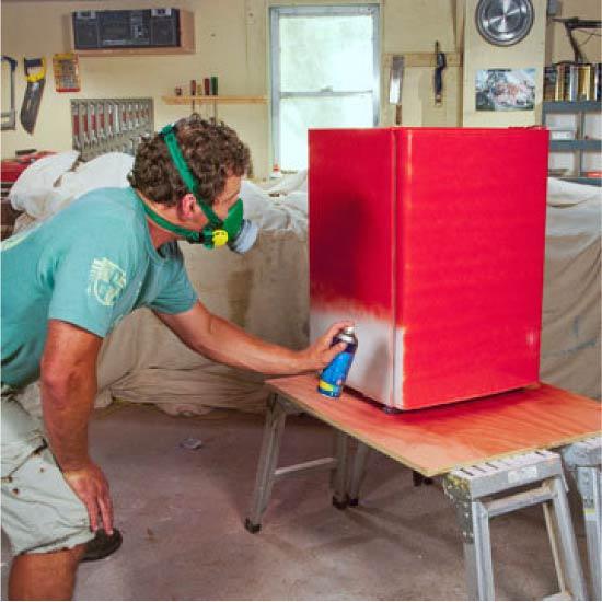 Buzdolabının boyanması
