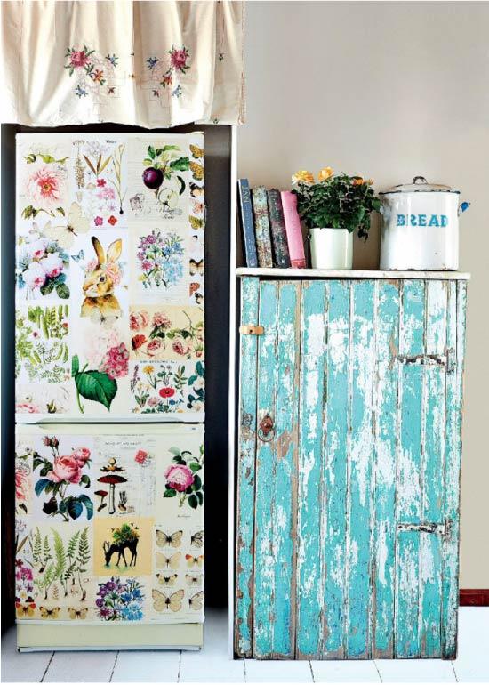 Oymacılık buzdolabı dekoru