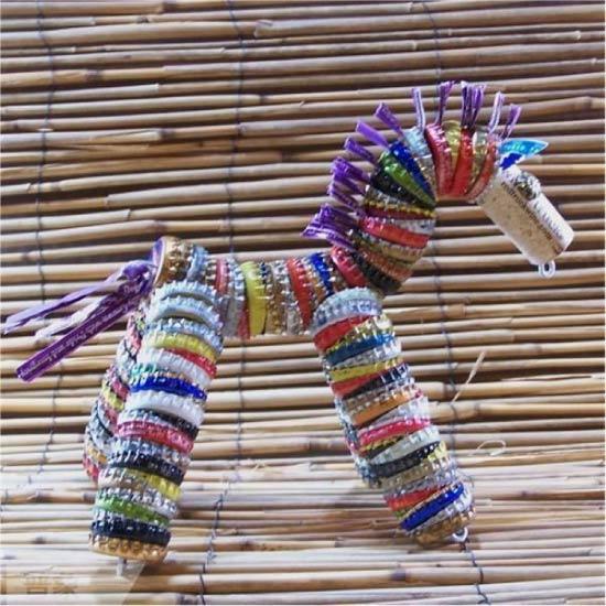 Børns håndværk fra metalbetræk