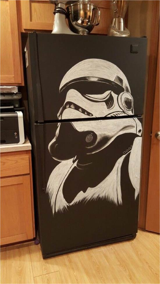 הרעיון של ציור המקרר