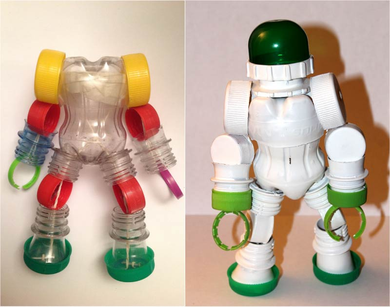 Kosmonaut fra plastik dækker
