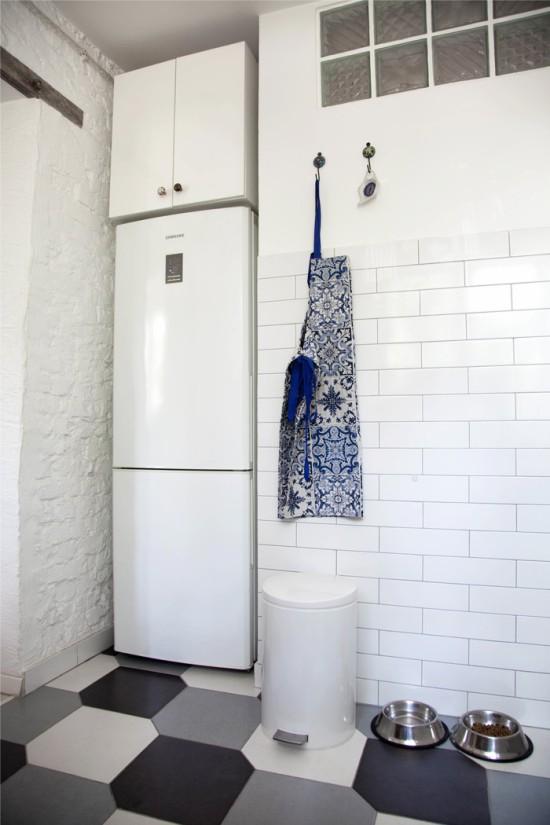 Buzdolabı için nişli mutfak