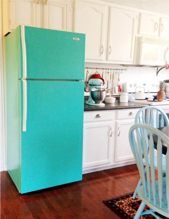 İç boyalı buzdolabı