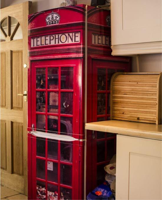 Fotoğraf baskısı filmi olan buzdolabının tasarımı