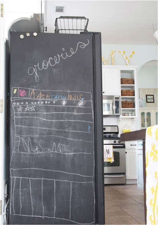Buzdolabı kayrak boya tasarımı