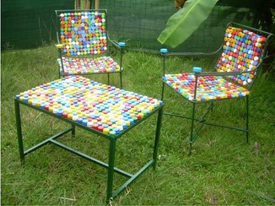 Havemøbler fra plastdæksler