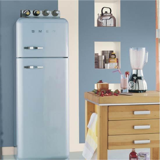 Duvara ton vermek için buzdolabı