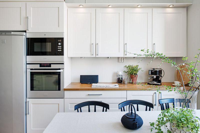 Két soros konyha 18 négyzetméter. m