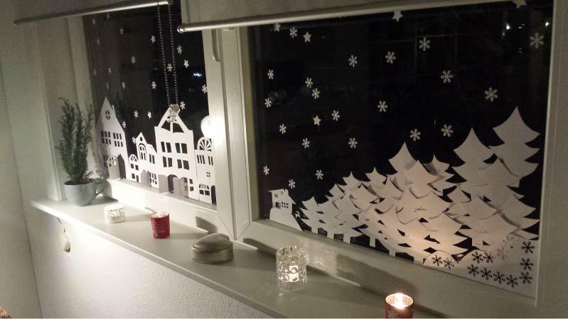 Karácsonyi vytynanka az ablakokon