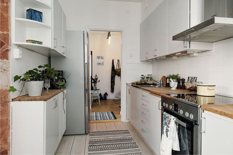 Kétszintű konyhai elrendezés 8 négyzetméter. m