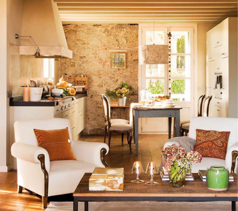 Két soros konyha-nappali elrendezés