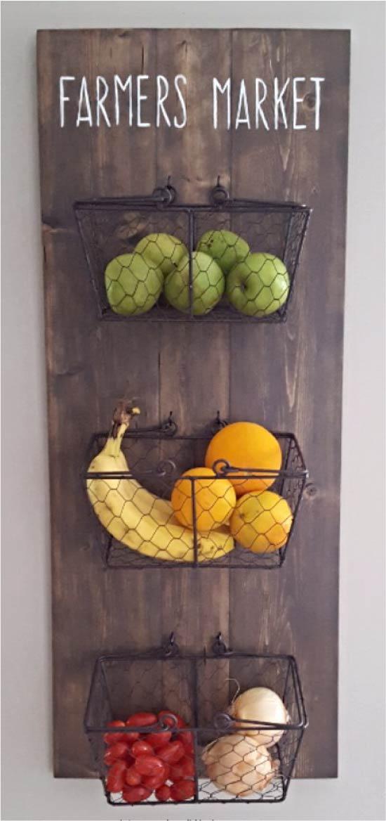 Rak untuk menyimpan sayur-sayuran dan buah-buahan