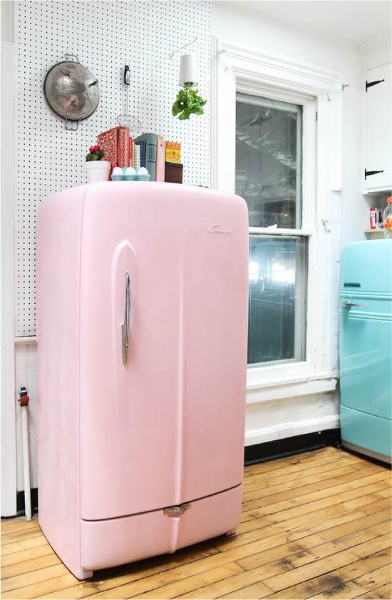 Maleri køleskabet