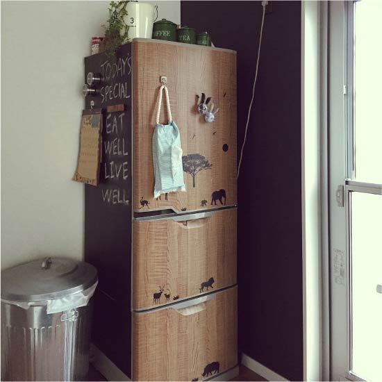 Vinyl fedett hűtőszekrény