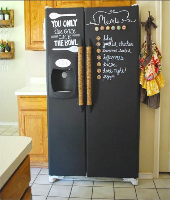 Skifer malet køleskab