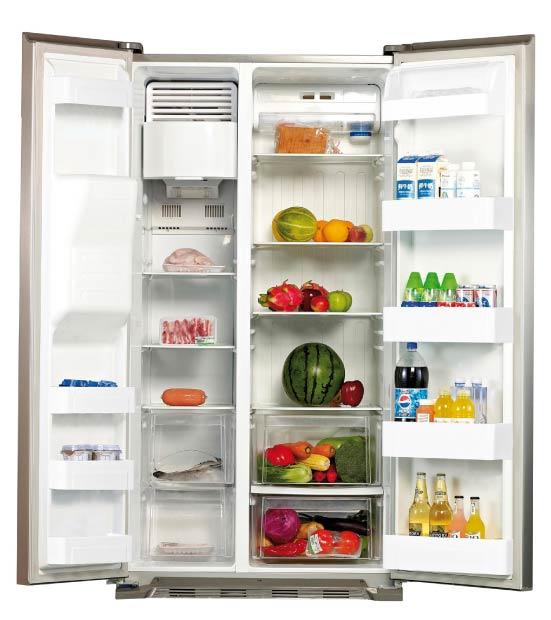 Køleskab side ved side 550 l