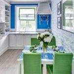 Cozinha estilo Gzhel