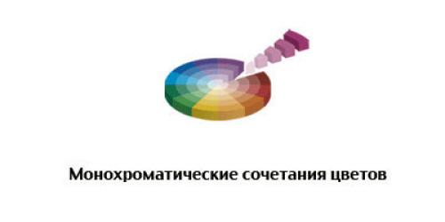 Combinação de cores monocromática