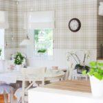 Papel de parede na cela no interior da cozinha
