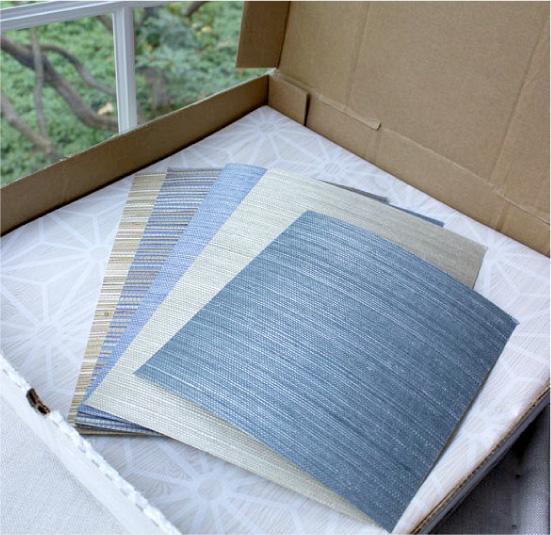 Amostras de papel de parede para o teste