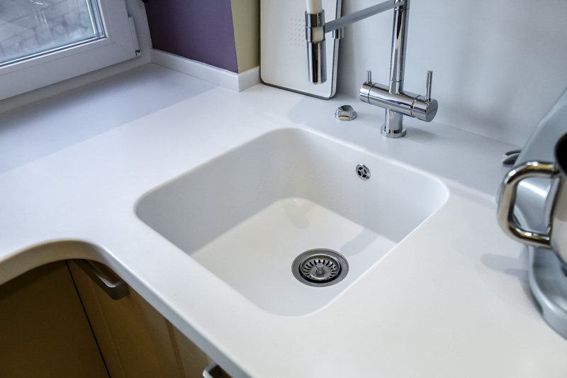 Pult, mosogató és ablakpárkány akril kő Corian