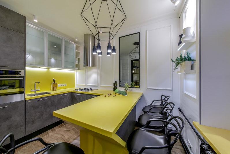Pierre acrylique top jaune