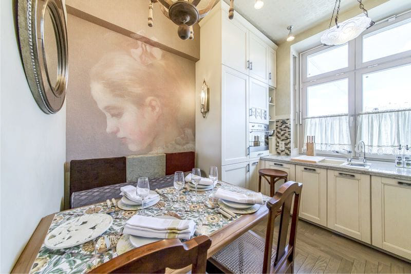 Virtuves dizains ar fresku