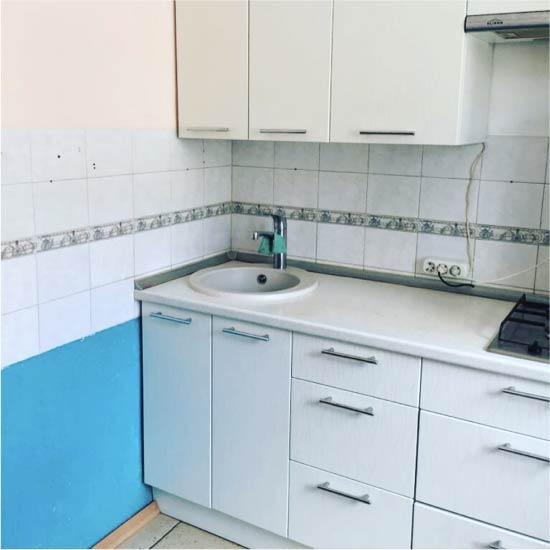 Vecā virtuve pirms pārstrādāšanas