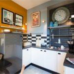 Kjøkken med kontrastfarger
