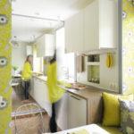 Sárga és fehér konyha