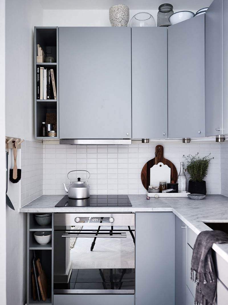 Κουζίνα με μίνι λαβές