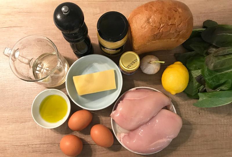 Ingrediente pentru salata de Caesar