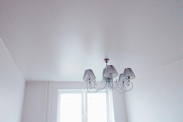 Plafond blanc satiné