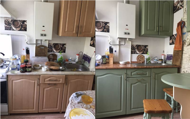 Olive Küche Restaurierung