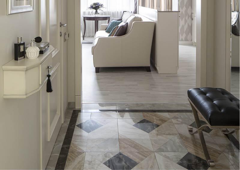 Съединението между плочката и плочката за пода с праг
