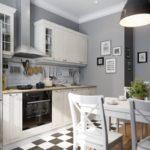 Laattojen ja laminaatin risteys keittiössä